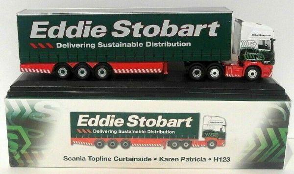 Oxford JV4127 Scania Highline Curtainside Stobart Power Eddie Stobart 1:76 Scale