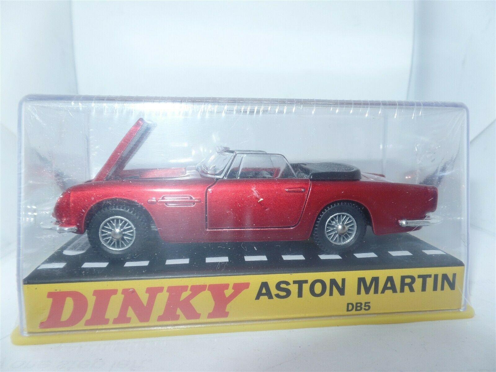 Atlas French Dinky 110 Aston Martin Db5 Open Top Red Metallic