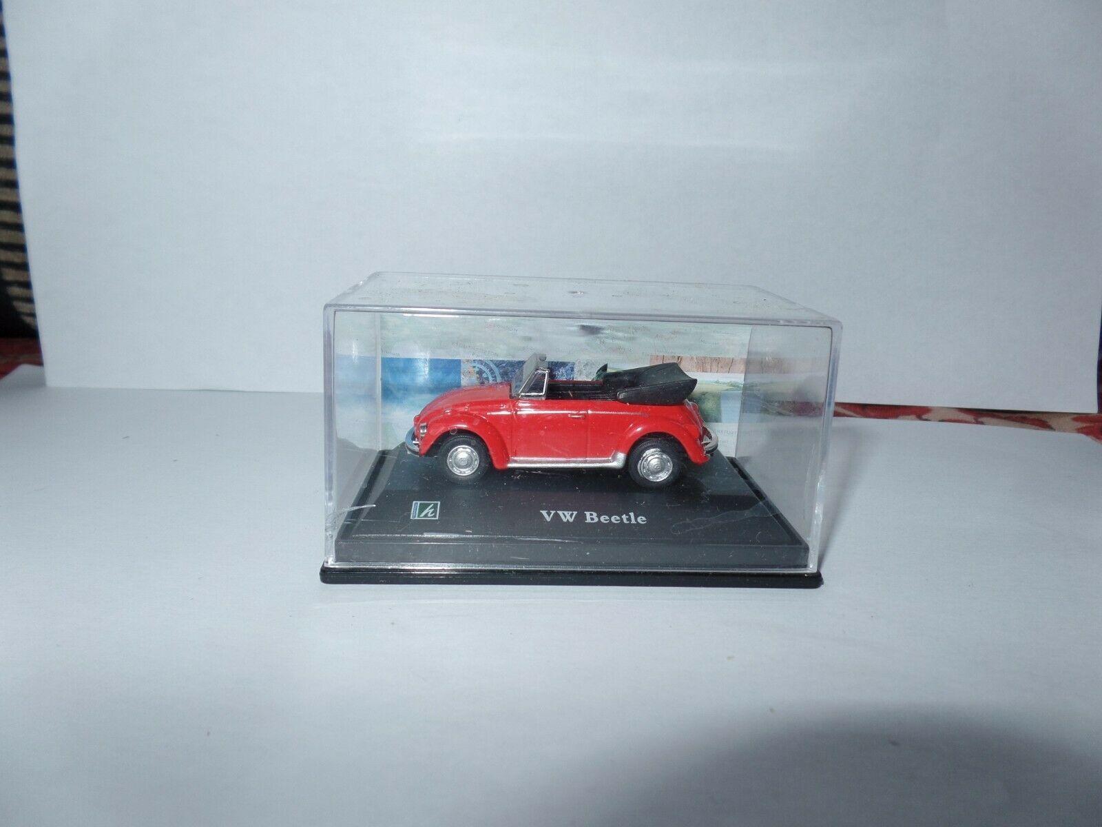 Cararama 1 72 Scale Volkswagen Vw Beetle Red Convertible Open Top