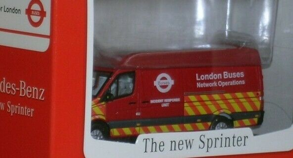 CMNL UKVAN1004  Mercedes Sprinter Van London Transport Buses Incident Response