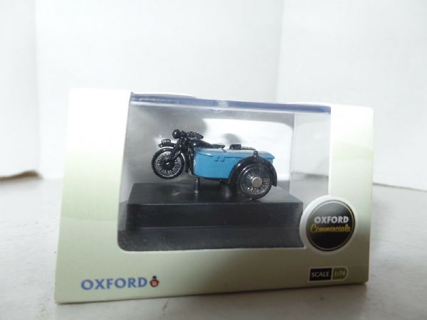 Oxford Commercials BSA Motorcycle /& Sidecar RAC  in 1:76 /'00/' scale pre-owned.