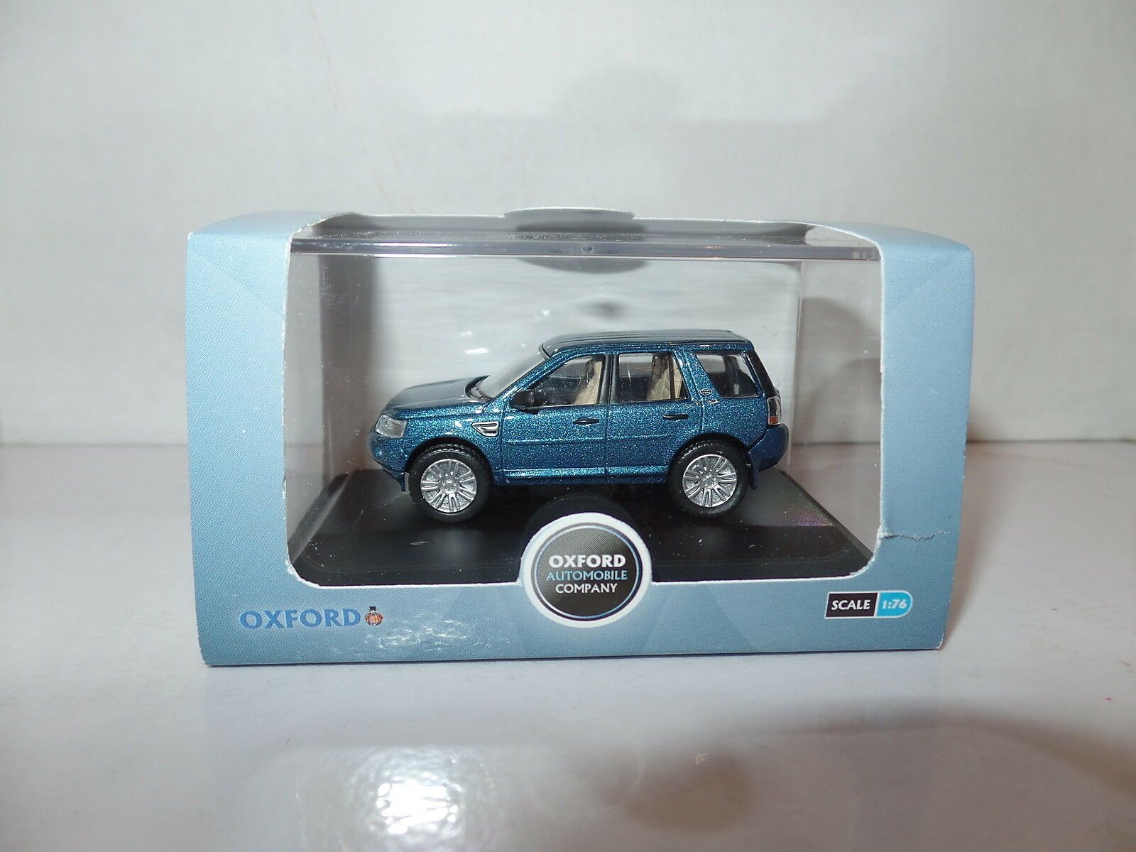 Oxford Diecast 1:76 Scale Land Rover Freelander In Mauritius Blue 176