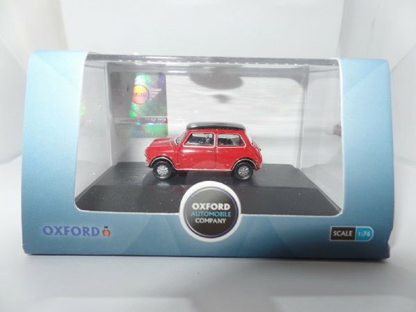 Oxford 76MC002 MC002 1//76 OO Scale New Mini Cooper Coupe Midnight Black Red Roof