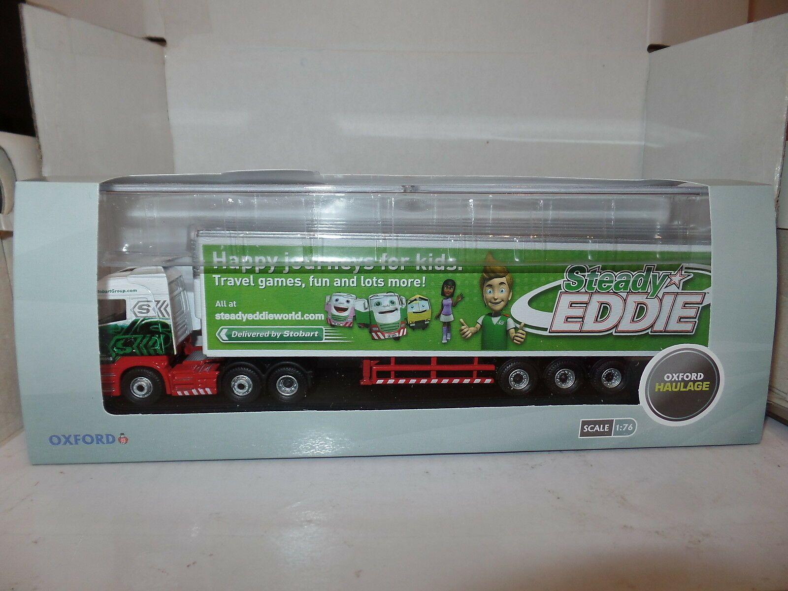 OXFORD DIECAST 76SHL16FR 1:76 OO SCALE Scania Highline Fridge Steady Eddie