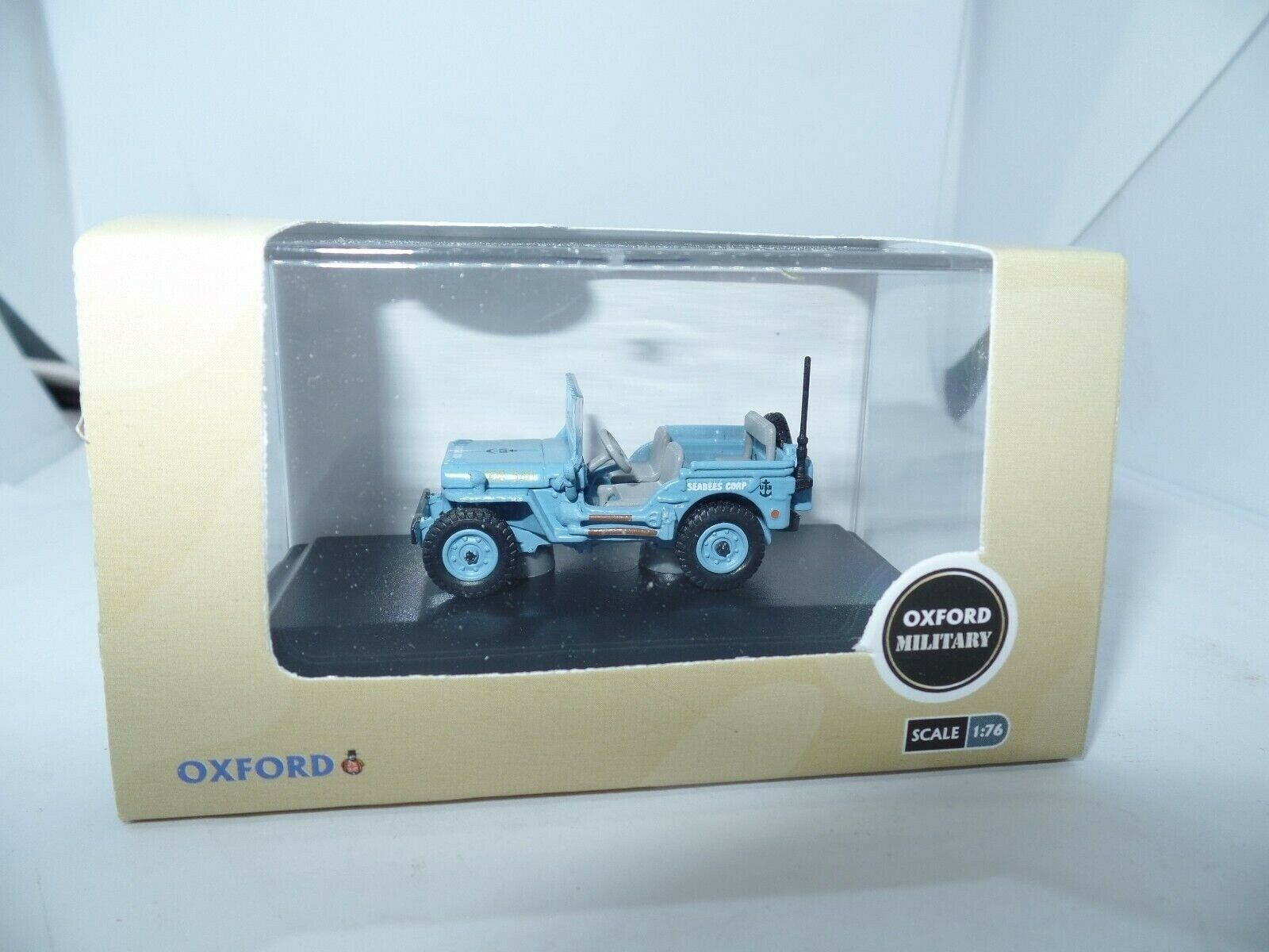 Oxford 76wmb002 Wmb002 1 76 Oo Scale Willys Mb Jeep Us Navy Seabees Blue