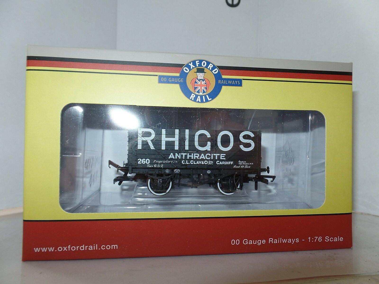 Oxford Rail OR76MW7025-7 Plank Mineral Wagon Rhigos Anthracite Cardiff